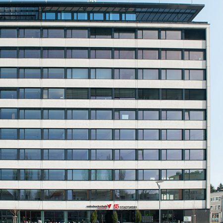 Alu-Glas-Fassade ausgeführt von Firma Linzner für Competence Park Salzburg