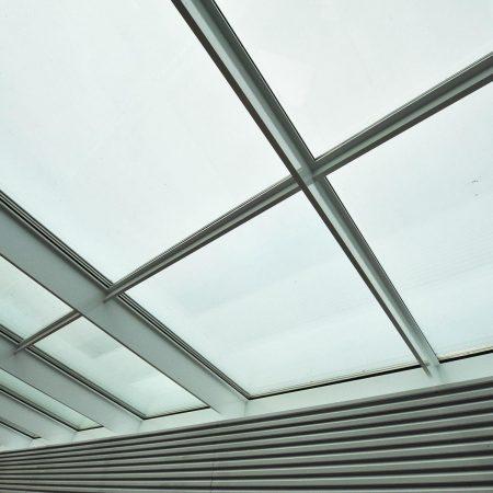 Glasdach ausgeführt von Firma Linzner für die Firma Trumpf