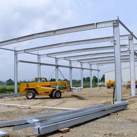 Stahl-Hochbau bei Firma Linzner, ausgeführt von Firma Linzner