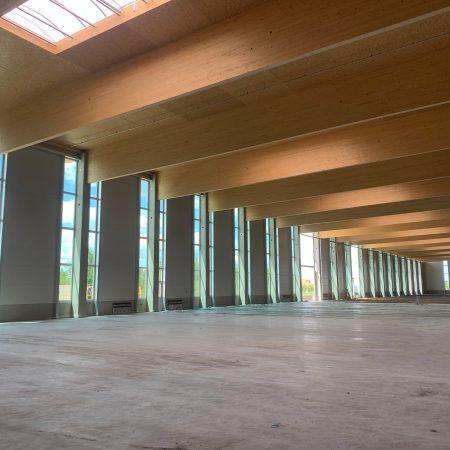Stahlhochbau ausgeführt von Firma Linzner Metallbau für Biohort in Herzogsdorf